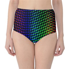 Digitally Created Halftone Dots Abstract High Waist Bikini Bottoms