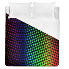 Digitally Created Halftone Dots Abstract Duvet Cover (queen Size)
