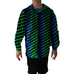 Digitally Created Halftone Dots Abstract Hooded Wind Breaker (kids)
