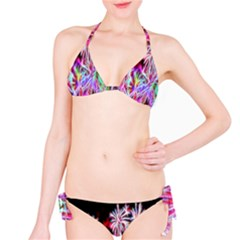 Fractal Fireworks Display Pattern Bikini Set