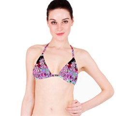 Fractal Fireworks Display Pattern Bikini Top