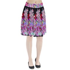 Fractal Fireworks Display Pattern Pleated Skirt