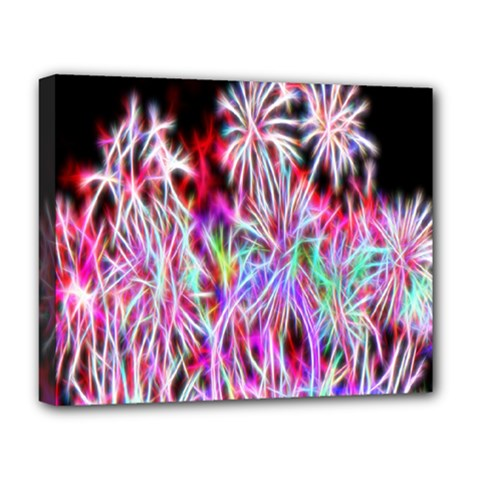 Fractal Fireworks Display Pattern Deluxe Canvas 20  X 16