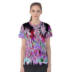 Fractal Fireworks Display Pattern Women s Cotton Teecotton Tee