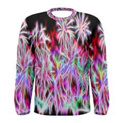 Fractal Fireworks Display Pattern Men s Long Sleeve Tee