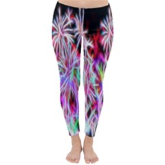Fractal Fireworks Display Pattern Classic Winter Leggings