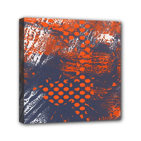 Dark Blue Red And White Messy Background Mini Canvas 6  X 6