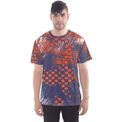 Dark Blue Red And White Messy Background Men s Sports Mesh Tee