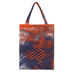 Dark Blue Red And White Messy Background Classic Tote Bag