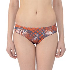 Dark Blue Red And White Messy Background Hipster Bikini Bottoms
