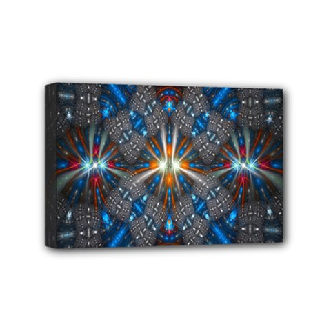 Fancy Fractal Pattern Background Accented With Pretty Colors Mini Canvas 6  X 4