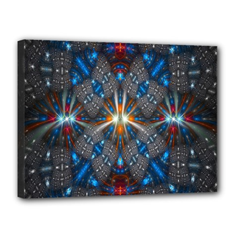 Fancy Fractal Pattern Background Accented With Pretty Colors Canvas 16  X 12