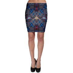 Fancy Fractal Pattern Background Accented With Pretty Colors Bodycon Skirt