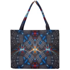 Fancy Fractal Pattern Background Accented With Pretty Colors Mini Tote Bag