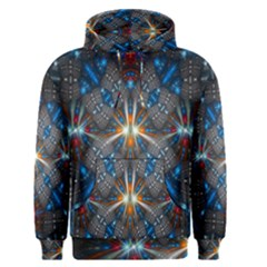 Fancy Fractal Pattern Background Accented With Pretty Colors Men s Pullover Hoodie