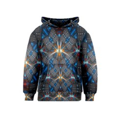 Fancy Fractal Pattern Background Accented With Pretty Colors Kids  Pullover Hoodie