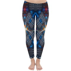 Fancy Fractal Pattern Background Accented With Pretty Colors Classic Winter Leggings