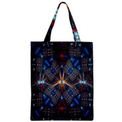 Fancy Fractal Pattern Background Accented With Pretty Colors Zipper Classic Tote Bag