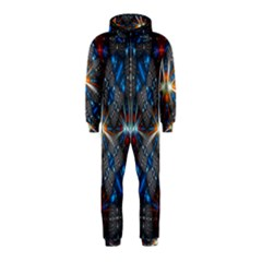 Fancy Fractal Pattern Background Accented With Pretty Colors Hooded Jumpsuit (kids)