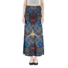 Fancy Fractal Pattern Background Accented With Pretty Colors Maxi Skirts