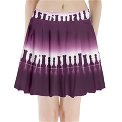 Chess Pieces Pleated Mini Skirt
