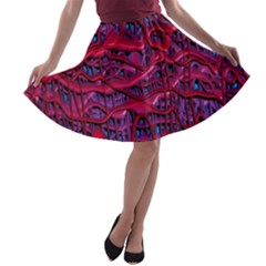 Plastic Mattress Background A Line Skater Skirt