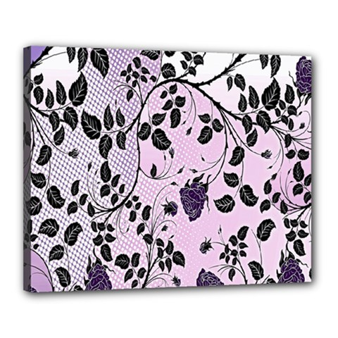 Floral Pattern Background Canvas 20  X 16