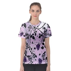 Floral Pattern Background Women s Sport Mesh Tee