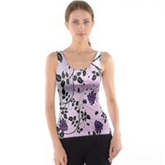 Floral Pattern Background Tank Top