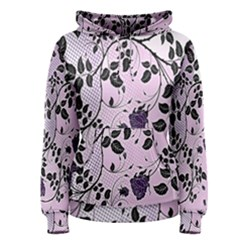 Floral Pattern Background Women s Pullover Hoodie