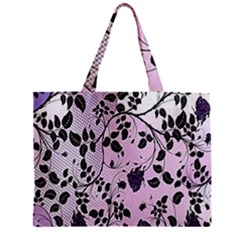 Floral Pattern Background Zipper Mini Tote Bag