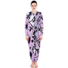 Floral Pattern Background Onepiece Jumpsuit (ladies)