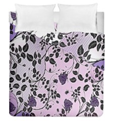 Floral Pattern Background Duvet Cover Double Side (queen Size)