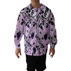 Floral Pattern Background Hooded Wind Breaker (kids)