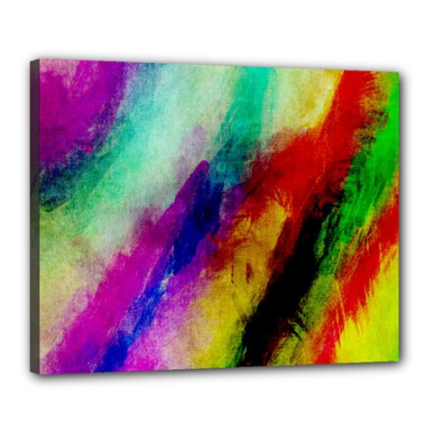 Colorful Abstract Paint Splats Background Canvas 20  X 16