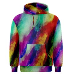 Colorful Abstract Paint Splats Background Men s Pullover Hoodie