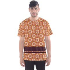 Floral Seamless Pattern Vector Men s Sports Mesh Tee