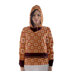 Floral Seamless Pattern Vector Hooded Wind Breaker (women)