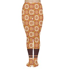 Floral Seamless Pattern Vector Women s Tights