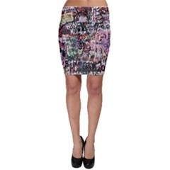 Graffiti Wall Pattern Background Bodycon Skirt