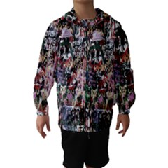 Graffiti Wall Pattern Background Hooded Wind Breaker (kids)