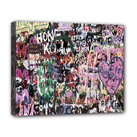 Graffiti Wall Pattern Background Deluxe Canvas 20  X 16