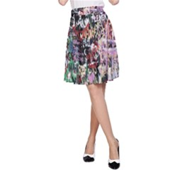 Graffiti Wall Pattern Background A Line Skirt