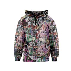 Graffiti Wall Pattern Background Kids  Zipper Hoodie
