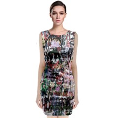 Graffiti Wall Pattern Background Classic Sleeveless Midi Dress
