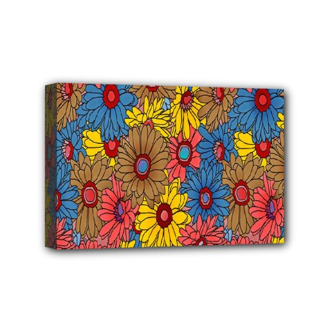 Background With Multi Color Floral Pattern Mini Canvas 6  X 4