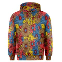 Background With Multi Color Floral Pattern Men s Pullover Hoodie