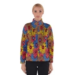 Background With Multi Color Floral Pattern Winterwear