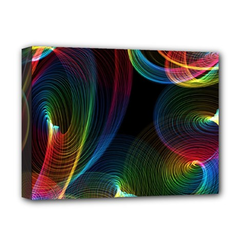 Abstract Rainbow Twirls Deluxe Canvas 16  X 12