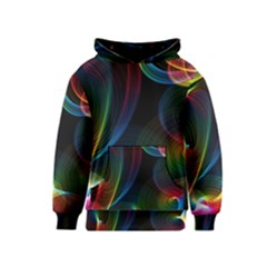 Abstract Rainbow Twirls Kids  Pullover Hoodie
